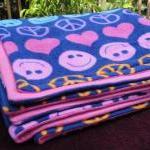 Toddler / Baby Blanket Fleece 'Peac..