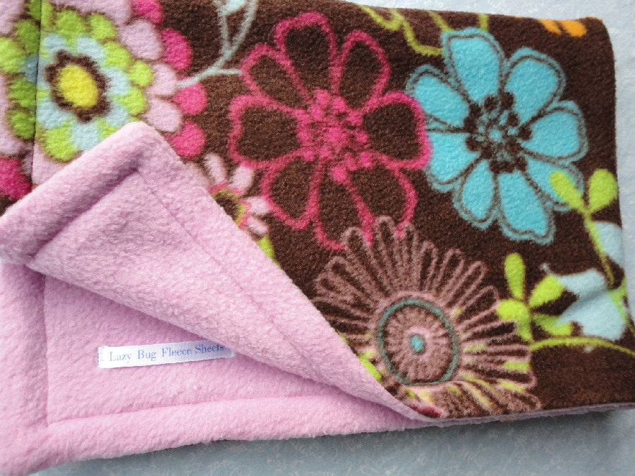 Fleece Toddler / Baby Blanket 'Wildflower Dreams' BUG HUG for Girls