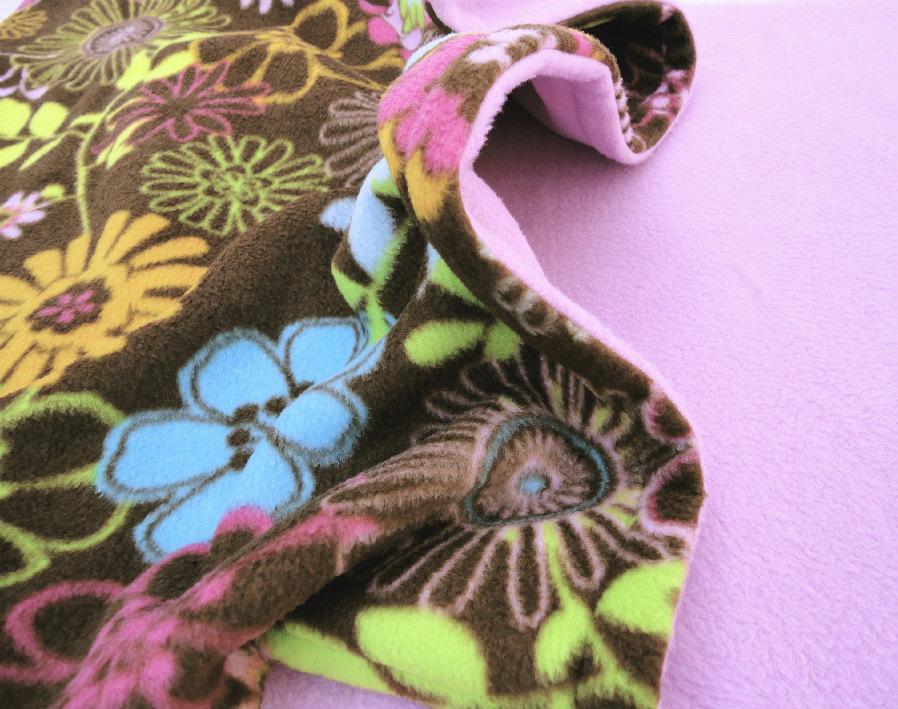 Pack and Play Sheet / Blanket Set: Handmade Fleece Bedding Set for Babies 'Wildflowers' Print