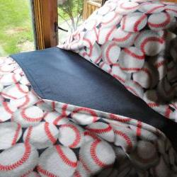 Baseball Dreams for Boys : Cozy Fleece Bedding Fits Cribs & Toddler Beds