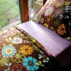 Girls Toddler Bedding Cozy Fleece 'Wildflower Dreams'  Fits Cribs & Toddler Beds