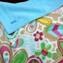 Fleece Toddler / Baby Blanket 'Butterfly Bliss' BUG HUG for Girls