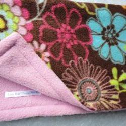 Fleece Toddler / Baby Blanket 'Wildflower Dreams' BUG HUG for Girls