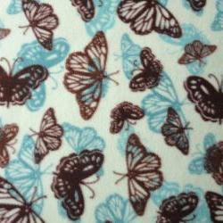 Fleece Fitted Sheets 'Butterfly Dreams' for Girls Fits Cribs and Toddler Beds